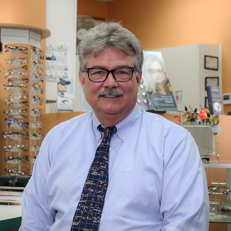 Owner-optician Dan Amyx