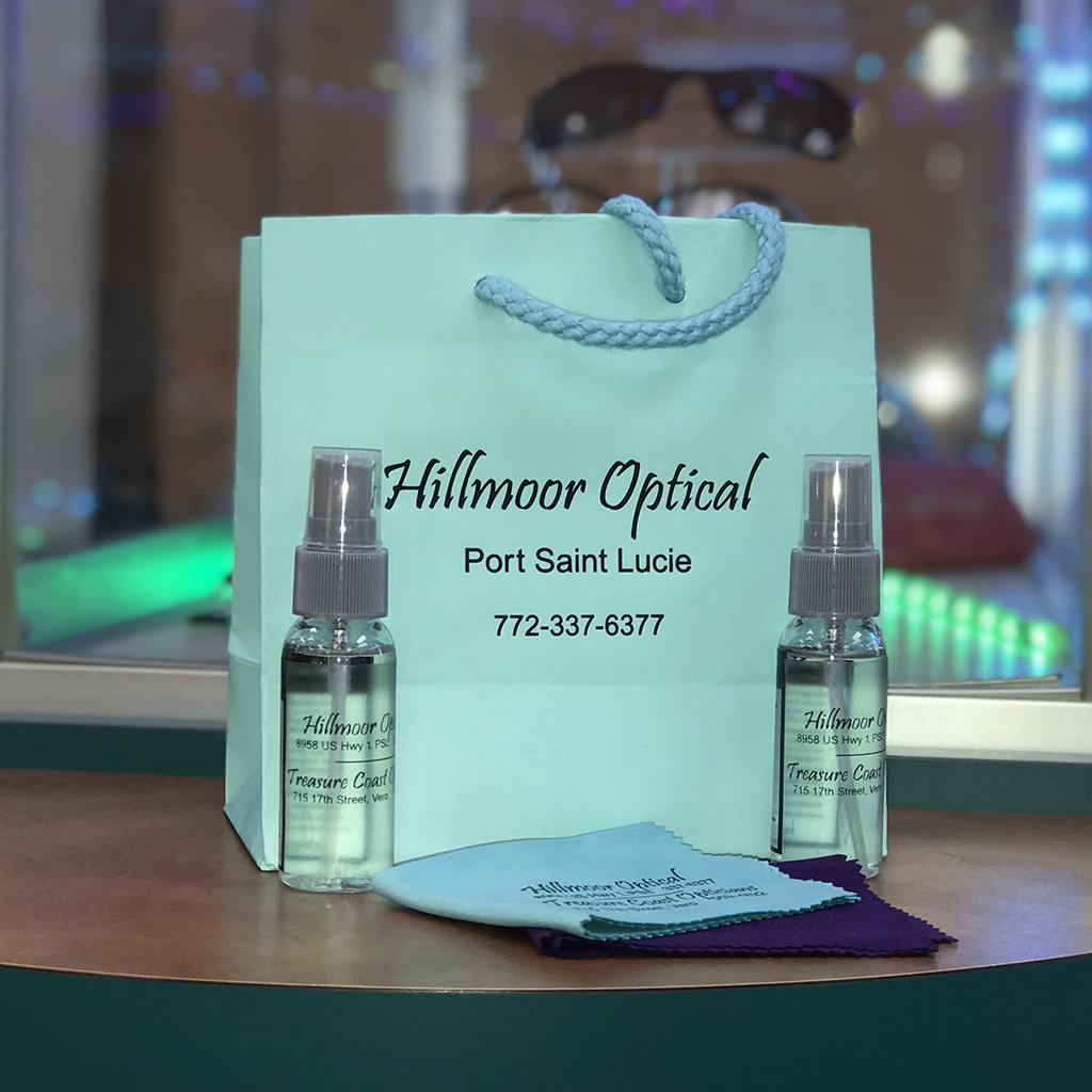 Eyeglass lens care kit