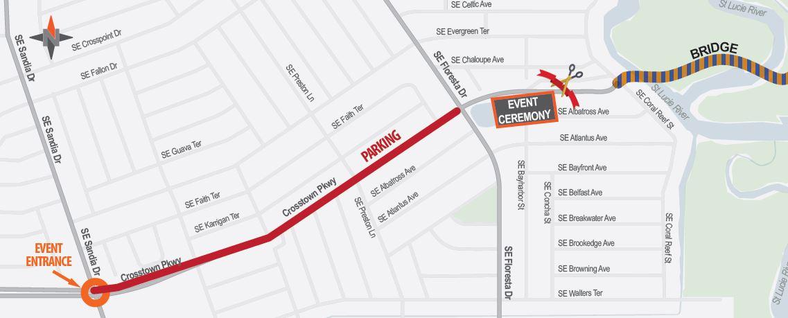 Crosstown Parkway Event Map